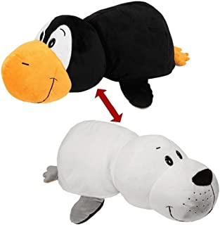 """Best FlipaZoo 16"""" Plush 2-in-1 Pillow - White Seal Transforming To Penguin (the Toy that Flips for you) Review"""