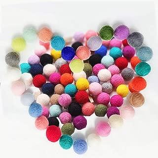 Juedi Wool Felt Balls Felt Balls DIY Handmade Wool Felt Poms 100% Wool 0.79inch 50pcs Home Decor Mixed Color
