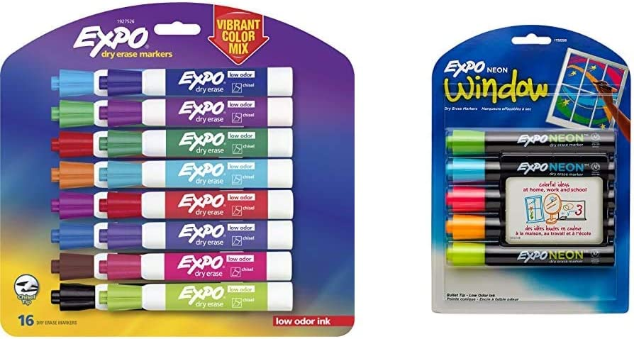 EXPO 1927526 Low-Odor Dry Sales Erase Markers Col Tip Vibrant Surprise price Chisel