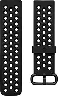 Fitbit Versa Family Accessory Band, Official Fitbit Product, Sport, Black, Small
