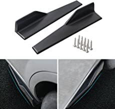 DTOUCH RACING Side Skirts Fits Universal Vehicles Black 450mm Exterior Side Bottom Line Extensions Splitter Lip Car Diffusers