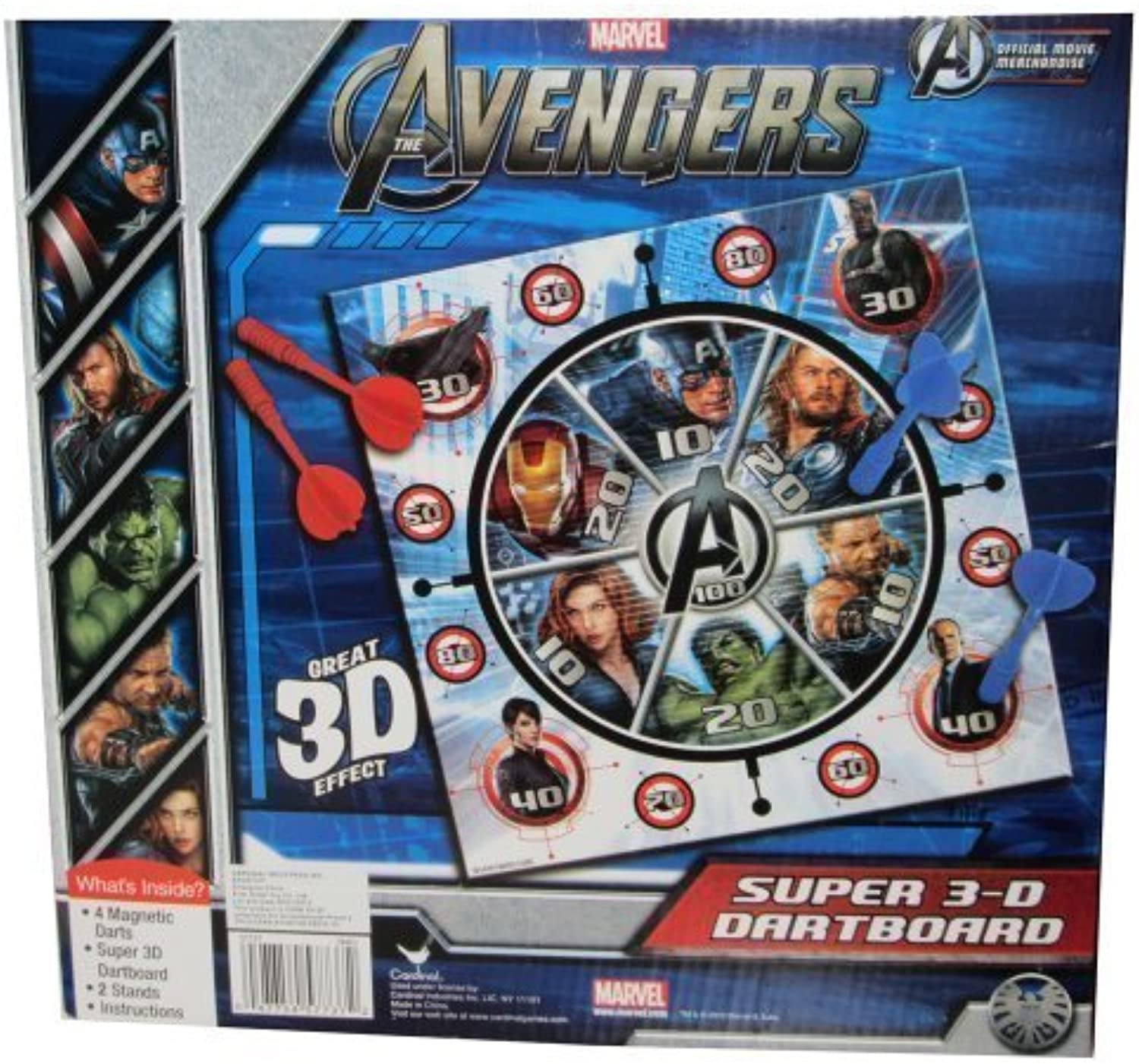 Cardinal Games Avengers 3D Magnetic Dartboard by Cardinal Games