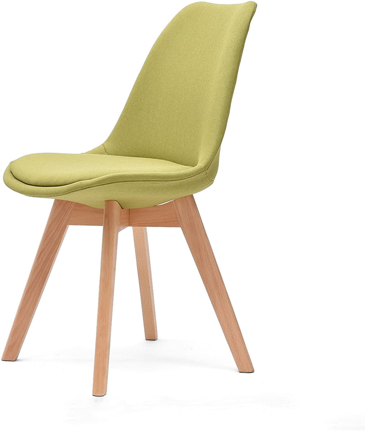 CKH Solid Wood Desk Chair Simple Modern Backrest Dining Chair Creative Nordic Office Chair (color   Matcha)