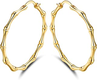 Best gold bamboo earrings Reviews