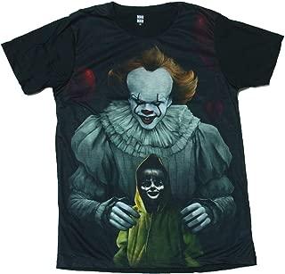 (Brand) プリントTシャツ IT イット ペニーワイズ ホラー映画 メンズ [並行輸入品]...