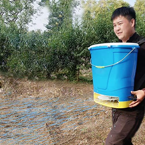 BJYX 25 litros Alimentador de Cebo Eléctrico Esparcidor de Cebo Semilla Seca Granular Alimento para Tierras de Cultivo Arrozales Huertos Criaderos Estanques de Peces Césped Huertos