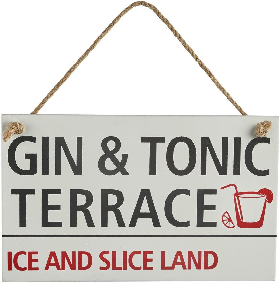 Metal plaques signs shabby chic rustic The Gin Bar mancave wall art decor gift