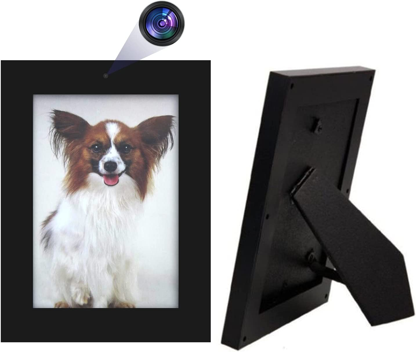 Hidden Camera, HD 1080P Photo Frame Spy Camera Home Security Wireless Nanny Cam Video Recorder with Motion Detection for Home and Office, No WiFi Function