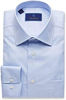 Men's Twill Regular Fit Blue Dress Shirt