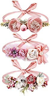 Gacimy Baby Girls Nylon Headbands Hair Bows Accessories for Newborn Toddler Infant