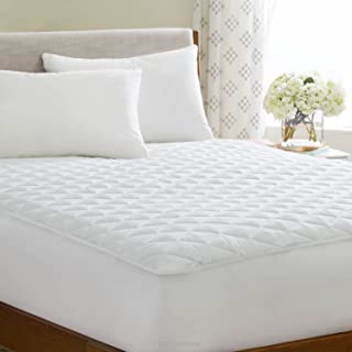 LINENSPA Waterproof Quilted Mattress Pad - Hypoallergenic Fill - Deep Pocket Fitted Skirt - Twin