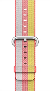 Ozone Replacement Woven Nylon Apple Watch Strap Band for 38mm - Red