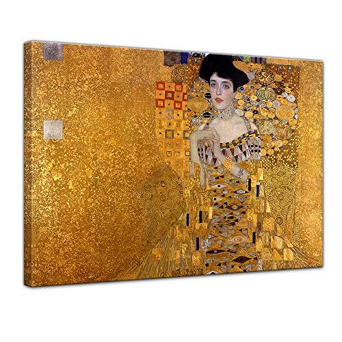 Keilrahmenbild Gustav Klimt Adele Bloch Bauer I - 120x90cm quer - Alte Meister Berühmte Gemälde Leinwandbild Kunstdruck Bild auf Leinwand