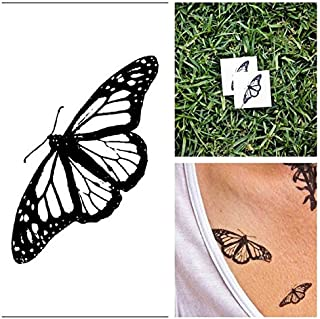 Tattify Insect Temporary Tattoo - Butterfly (Set of 2) - Other Styles Available - Fashionable Temporary Tattoos - Long Lasting and Waterproof