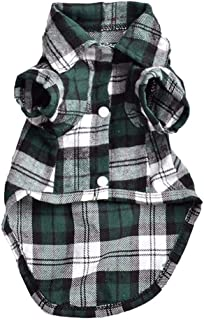 BOOB Plaid Dog Shirt Summer Pet Dog Clothes for Dogs T-Shirt Vest Puppy Pet Supplies Clothing for Dogs Outfits Chihuahua