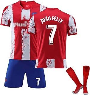 Mijiang Erwachsene Kinder Fussball Jersey, Madrid 7 Félix Trikots, Team Training Anzug Trikots Sportkleidung T-Shirt  Shorts  Socke Trainingsanzüge