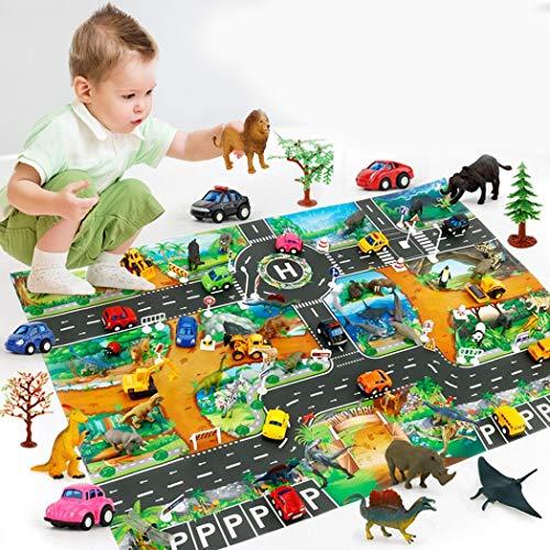 kemanner Home Bambini Ragazzi Ragazze Simulazione Road Animal Play Mat Tappetini Gioco e palestrine