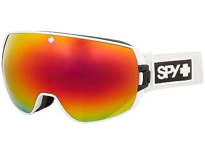 Spy Optic Legacy (Matte White Hd Plus Bronze w/ Red Sprectra Mirror + Hd Plus Ll) Snow Goggles