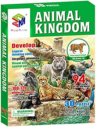 91 pcs HoneyCare Jigsaw Puzzles-EN71 ASTM Approved Safe Environmental Protection Jigsaw Puzzles Dinosaur
