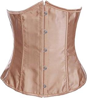 8c0b07ad16d FREE Shipping by Amazon. Alivila.Y Fashion Womens Sexy Satin Vintage  Underbust Waist Training Corset