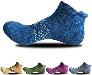 LLFS, Calcetines tobilleros de corte bajo antideslizantes para hombre, malla de algodón, ventilación fresca, 5 paquetes
