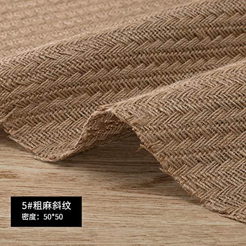 Tela de yute, tela de arpillera gruesa, tela de fondo de color primario, tela de bricolaje hecha a mano-Sarga de arpillera