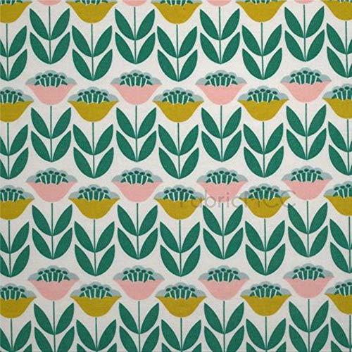 daoyiqi Tuliptopia - Juego de adhesivos decorativos para azulejos, 10,16 x 10,16 cm, adhesivo de vinilo para suelo, 12 unidades, impermeable, para decoración del hogar
