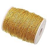 ILOVEDIY 5 Meter Metallkette Gliederkette Golden 2mm Kabelkette Link Kette