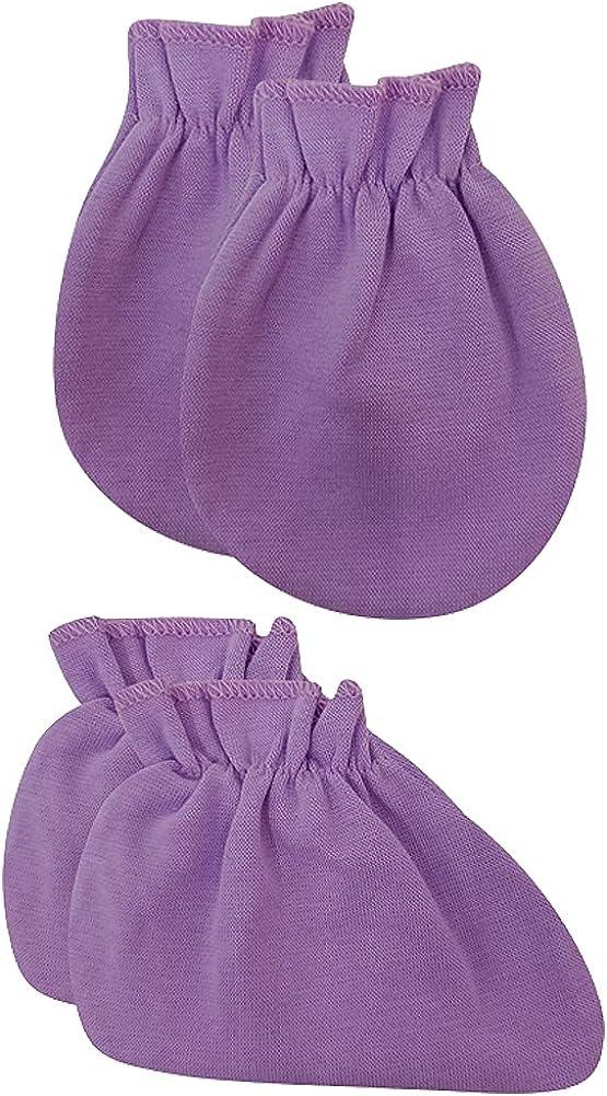 Newborn Premie Infant Baby Ankle Socks Mittens Set Cotton Cute Crew Sock Gloves for Neutral Baby Boy Girls 0-12 Months