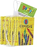 Unique Party - 74060 - Paquet de 8 Crayons de Cire pour Pochettes Pack de 6 - Cadeau