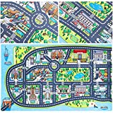 New York City Kids Play Mats for Toddlers. Educational, Road & Car Map Rug. Large 75' x 45' Floor Playmat for Children. Ideal Kids Rugs for Playroom, Bedroom, Activity Room for Toys & Cars.