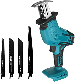 Qjin Cordless Reciprocating Saw 18V Electric Sabre Saw (Without Battery)