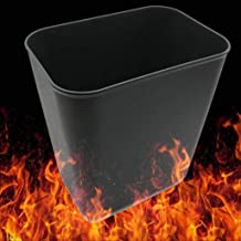 YbauShop Trash Can Home Waste Recycling Bin Fireproof Plastic Flame Retardant Coverless Toilet 8L,14L Kitchen,Bathroom,Off...