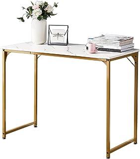 Symylife Escritorio, Mesa de Ordenador pequeña, Mesa de Oficina de Estilo Industrial, 100x50x74cm, Mesa de Trabajo para Ha...