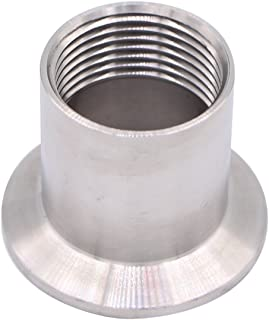 DERNORD Sanitary Female Threaded Pipe Fitting to 1.5 Inch TRI CLAMP (OD 50.5mm Ferrule) (Pipe Size: 1