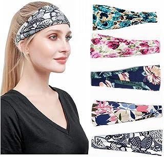 Fashion Printing Women's Headband Bohemian Style Non-Slip Elastic Broad Cloth Headband Headscarf Summer Hair Accessories S...
