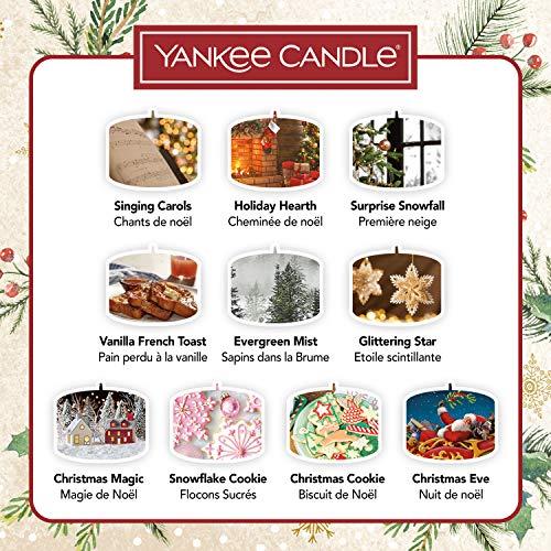 Yankee Candle confezione regalo | Candele profumate natalizie | 10 candele tea light e 1 porta candela tea light | Collezione Magical Christmas Morning
