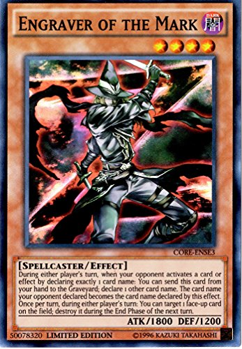 Yu-Gi-Oh! - Engraver of the Mark (CORE-ENSE3) - Clash of Rebellions: Special Edition - Limited Edition - Super Rare by Yu-Gi-Oh!