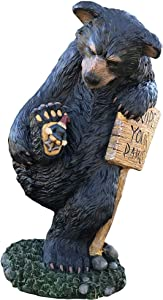 Design House Statuary 339023 Wipe Your Paws Bear 15-in Indoor/Outdoor, Multicolor