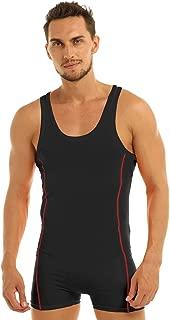 Men's Suspender One-Piece Tank Top Shorts Bodysuit Underwear Singlet