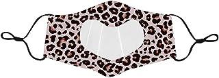 Gpure Leopard 𝐌𝐀𝐒𝐐𝐔𝐄 Transparent Lavable Avec Fenêtre Claire Coeur Réutilisable Anti-Poussière Anti-Buée Expression ...