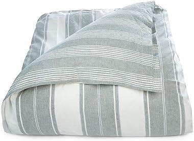 """Ralph Lauren King Size Duvet Cover Oakview Green and White  96"""" x 108"""""""