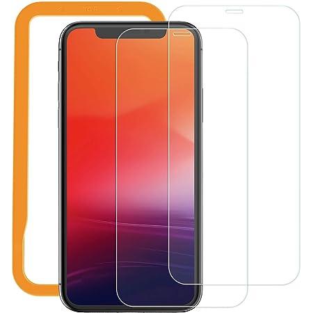 2枚セット NIMASO ガラスフィルム iPhone 11 Pro Max/Xs Max (xsmax) 用 液晶 保護 フィルム ガイド枠付き NSP20F77
