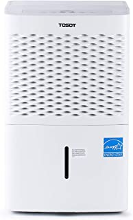 TOSOT 3,000 Sq Ft Energy Star Dehumidifier - for Home, Basement, Bedroom or Bathroom - Super Quiet, Automatically Drains, with Removable Water Bucket - 50 Pint