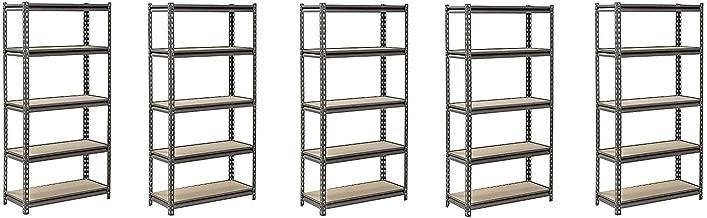 Muscle Rack UR301260PB5P-SV Silver Vein Steel Storage Rack, 5 Adjustable Shelves, 4000 lb. Capacity, 60