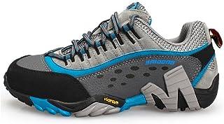 スニーカー、アウトドアシューズハイキング、レディースシューズ、滑り止め通気性シューズ、レザーウォーキングシューズ、衝撃吸収ハイキングシューズ、旅行、学生靴 (色 : A, サイズ : 35)