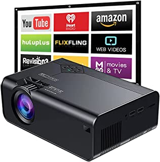 Proyector Portátil Wifi para Celular, E T EASYTAO Mini Proyector de Video 6000 Lúmenes Proyector de Video Soporta Full HD ...