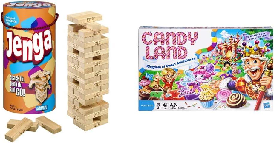 Jenga Game trend rank Wooden Blocks Columbus Mall Stacking Tower Ages Kids Tumbling