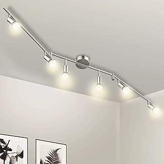 Wowatt Lámpara de techo LED Plafón con Focos Giratorios L