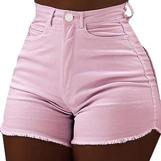 1f3f7b452a13 Simayixx Shorts for Women Women s High Waist Microstretch Cotton Denim  Shorts Pocket Sexy Soild Summer Pants